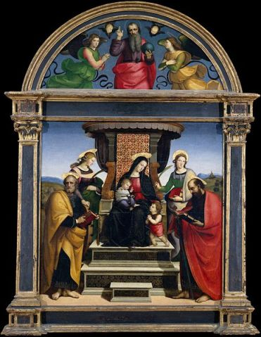 464px-Madonna_and_Child_Enthroned_with_Saints
