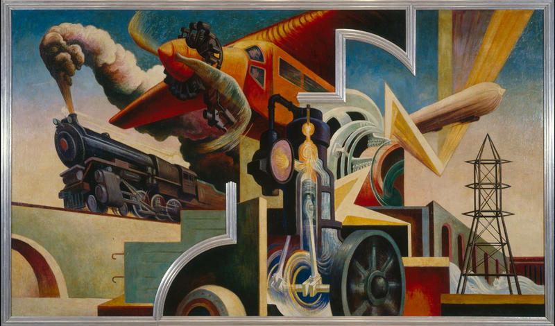 Thomas hart benton s america today mural rediscovered for America today mural